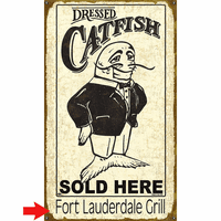Dressed Catfish Personalized Signs