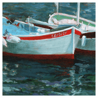 Drifting Boats Canvas Art