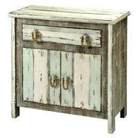 Driftwood and Rope 2-Door Cabinet