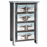 Driftwood and Rope 4-Drawer Chest