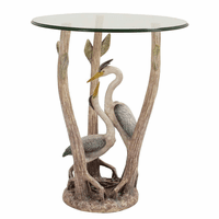 Driftwood Heron Side Table