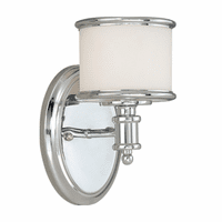 Edmonton 1 Light Vanity Lamp - Chrome