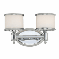 Edmonton 2 Light Vanity Lamp - Chrome