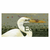 Egret Profile Canvas Art