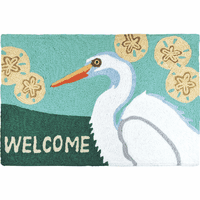 Egret Welcome Indoor/Outdoor Rug