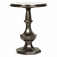 Eight-Sided Aluminum Side Table - Brass