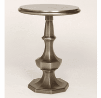Eight-Sided Aluminum Side Table - Pewter