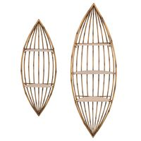El Nido Bay Boat Wall Shelves - Set of 2