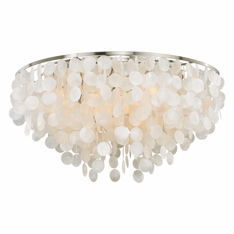 Elsa Capiz Shell Flush Mount Light - 30 Inch