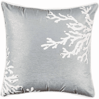Embellished Coral Square Pillow