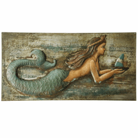Embossed Mermaid Metal Wall Art