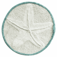 Embossed Starfish Round Rug