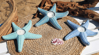 Embossed Starfish Tealight Candle Holders - Single (Set of 3) - CLEARANCE