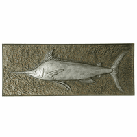 Embossed Swordfish Metal Wall Art