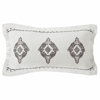 Embroidered Lace Oblong Pillow