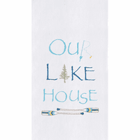 Embroidered Lakehouse Flour Sack Towels - Set of 6