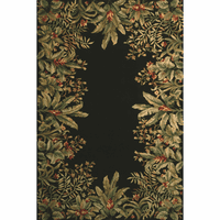 Emerald Black Tropical Border Rug Collection