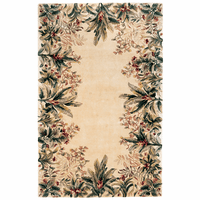 Emerald Ivory Tropical Border Rug Collection