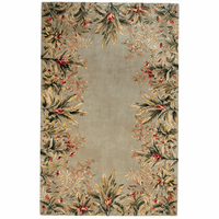 Emerald Sage Tropical Border Rug Collection