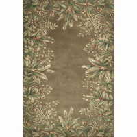 Emerald Taupe Tropical Border Rug Collection