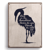 Emerson Heron Canvas Wall Art