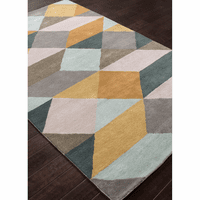 EnCasa Tufted Ojo Sea Mist Green Rug - 5 x 8