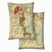 Esme Mermaid Vinyl Pillow - 16 x 22