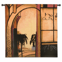 Exotic Retreat I Wall Tapestry