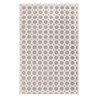Fables Trella Gray & Cream Rug - 5 x 8