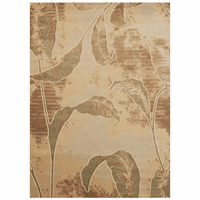 Faded Jungle Leaves Rug - 10 x 13