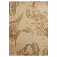 Faded Jungle Leaves Rug - 5 x 8