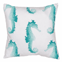Faded Seahorse Indoor/Outdoor Pillow
