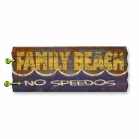 Family Beach Corrugated Metal Personalized Sign