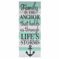 Family Is The Anchor Wall Sign