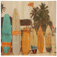 Family of Surfboards Wood Slat Wall Art