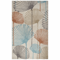 Fan Leaf Flowers Rug Collection