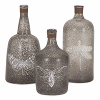 Fauna Decorative Bottles - Set of 3