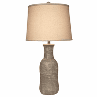 Faux Concrete Jug Table Lamp