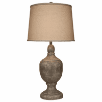 Faux Concrete Urn Table Lamp