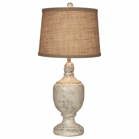 Faux Stone Urn Table Lamp