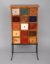 Fifteen Drawer Apothecary on Iron - OUT OF STOCK