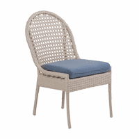 Fiji Dining Side Chair - White Sand Weave