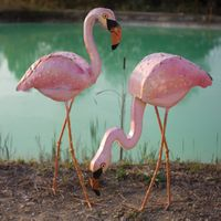 Finley Flamingos Statuaries - Set of 2