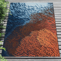 Fire Coral Indoor/Outdoor Rug Collection