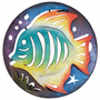 Fish Circle Mini Metal Wall Art