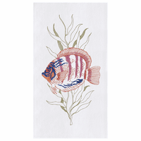 Fish Flour Sack Kitchen Towels - Set of 12