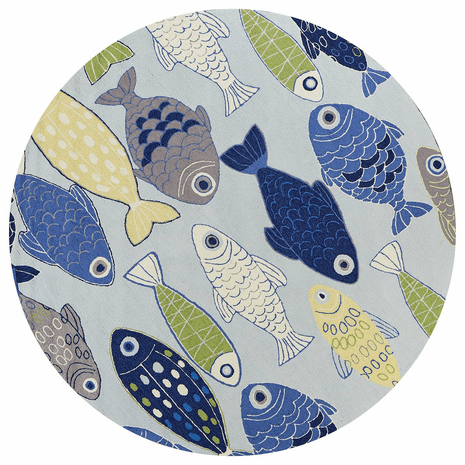 Fish in the Ocean Rug - 8 Ft. Round