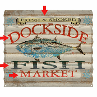 Fish Market Albacore Personalized Corrugated Metal Sign