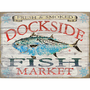 Fish Market Albacore Personalized Sign - 31 x 23