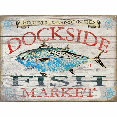 Fish Market Albacore Personalized Sign - 38 x 28